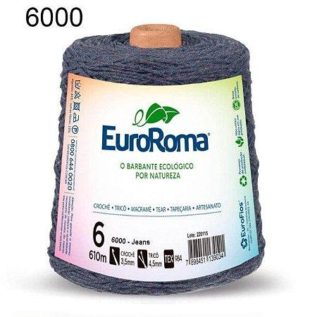 Barbante EuroRoma 6 fios Cor 6000 Jeans 610 metros