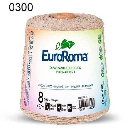 Barbante EuroRoma 8 fios Cor 300 Caqui 457 metros