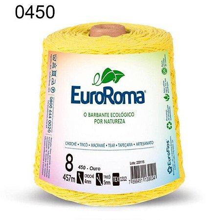 Barbante EuroRoma 8 fios Cor 450 Ouro 457 metros