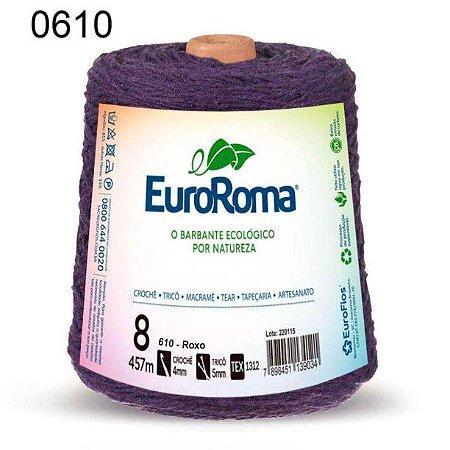 Barbante EuroRoma 8 fios Cor 610 Roxo 457 metros