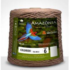 Barbante Amazônia 6 fios Cor 31 Caramelo 600 Gramas 614 Metros
