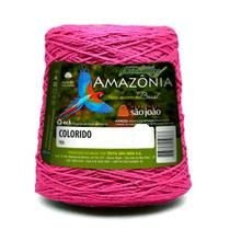 Barbante Amazônia 8 fios Cor 35 Rosa Neon 600 Gramas 461 Metros