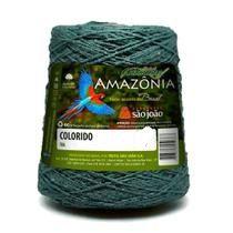 Barbante Amazônia 4 fios cor 12 Verde Musgo 600 Gramas 921 Metros - São João