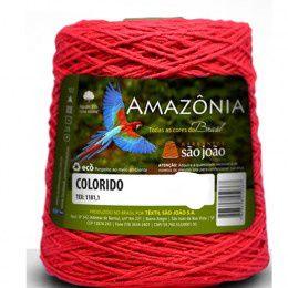 Barbante Amazônia 4 fios cor 13 Vermelho 600 Gramas 921 Metros - São João