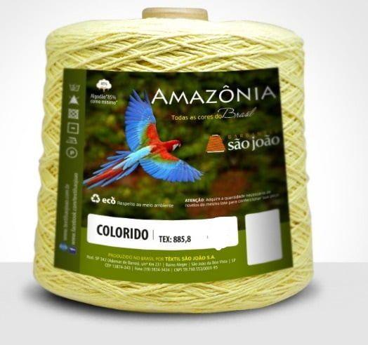 Barbante Amazônia 4 fios cor 17 Amarelo Bebê 600 Gramas 921 Metros - São João