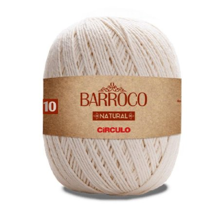Barbante Barroco Natural Fio Ne 4/10 (1475 Tex) 474m 700gr - Círculo