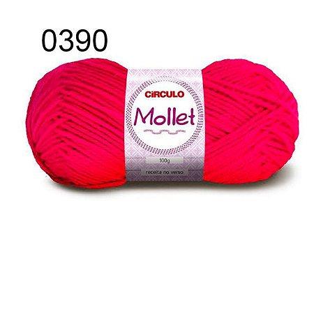 Lã Mollet 100gr 200m Cor 0390 Magenta - Círculo