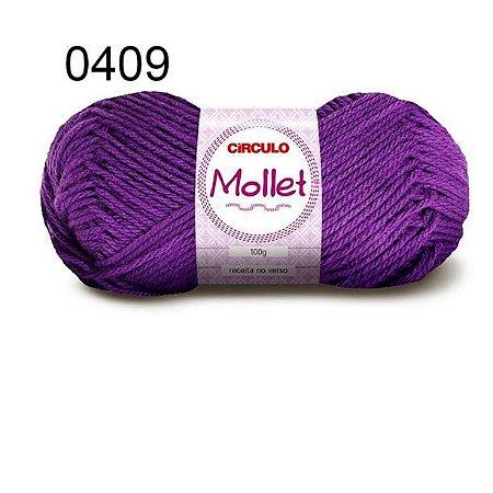 Lã Mollet 100gr 200m Cor 0409 Ametista - Círculo