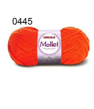 Lã Mollet 100gr 200m Cor 0445 Abóbora - Círculo