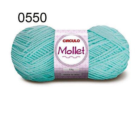 Lã Mollet 100gr 200m Cor 0550 Verde Candy - Círculo