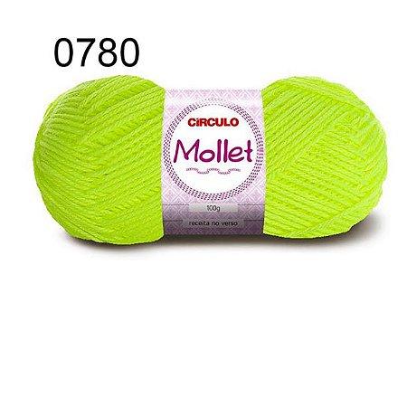 Lã Mollet 100gr 200m Cor 0780 Amarelo Neon - Círculo