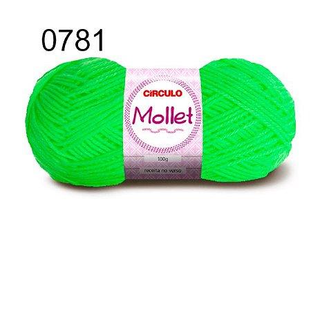 Lã Mollet 100gr 200m Cor 0781 Verde Neon - Círculo