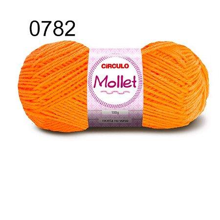 Lã Mollet 100gr 200m Cor 0782 Laranja Neon - Círculo