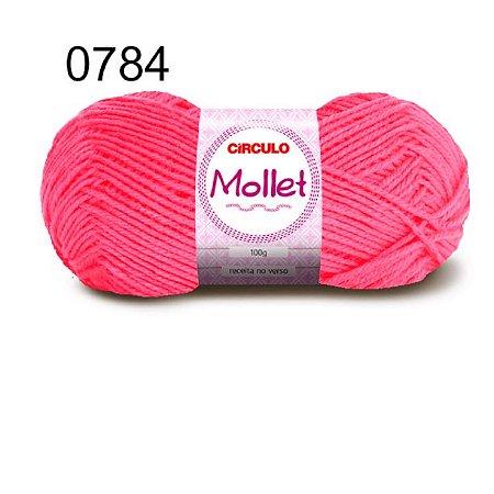 Lã Mollet 100gr 200m Cor 0784 Rosa Neon - Círculo
