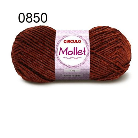 Lã Mollet 100gr 200m Cor 0850 Castanho - Círculo