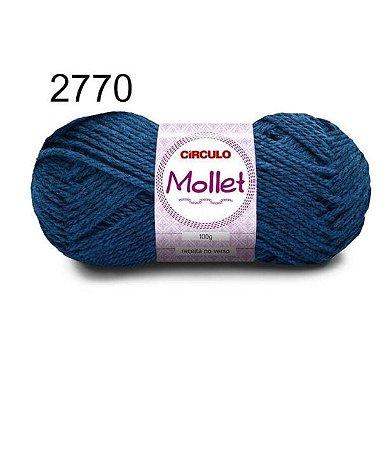 Lã Mollet 100gr 200m Cor 2770 Azul Clássico - Círculo
