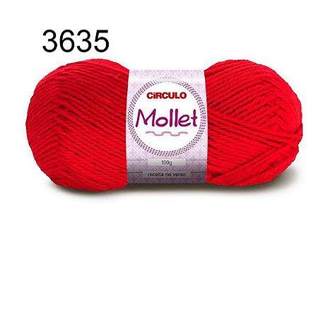 Lã Mollet 100gr 200m Cor 3635 Paixão - Círculo