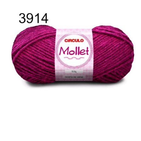 Lã Mollet 100gr 200m Cor 3914 Begônia - Círculo