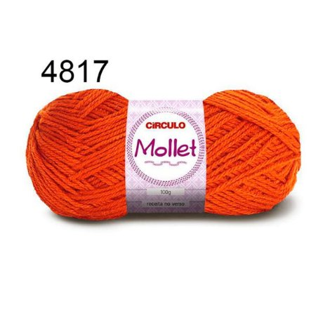 Lã Mollet 100gr 200m Cor 4817 Brasa - Círculo