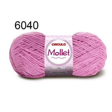 Lã Mollet 100gr 200m Cor 6040 Lírio - Círculo