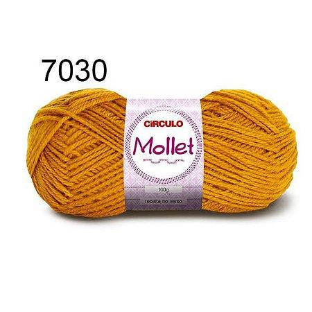 Lã Mollet 100gr 200m Cor 7030 Mostarda - Círculo