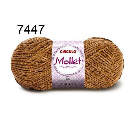 Lã Mollet 100gr 200m Cor 7447 Avelã - Círculo