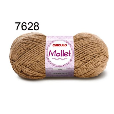 Lã Mollet 100gr 200m Cor 7628 Andiroba - Círculo