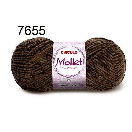 Lã Mollet 100gr 200m Cor 7655 Cravo - Círculo