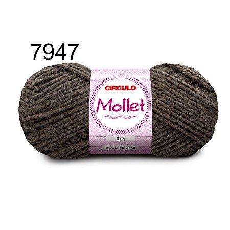 Lã Mollet 100gr 200m Cor 7947 Granito - Círculo