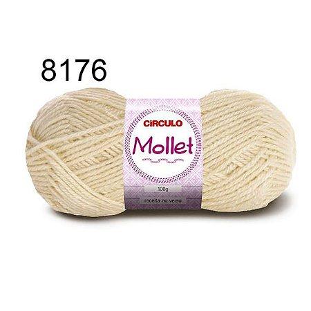 Lã Mollet 100gr 200m Cor 8176 Off White - Círculo