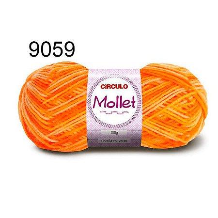 Lã Mollet 100gr 200m Cor 9059 Abóbora - Círculo