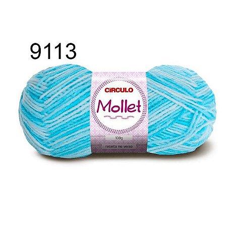 Lã Mollet 100gr 200m Cor 9113 Cascata - Círculo