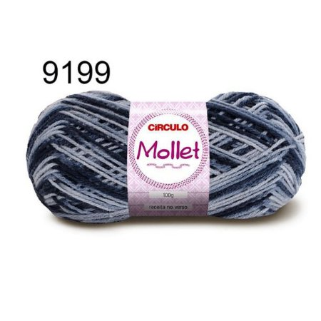 Lã Mollet 100gr 200m Cor 9199 Nublado - Círculo
