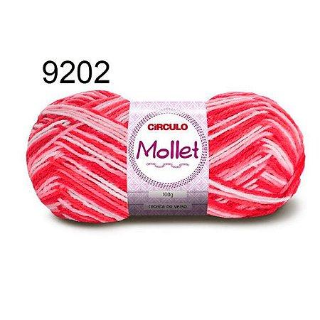 Lã Mollet 100gr 200m Cor 9202 Goiaba - Círculo