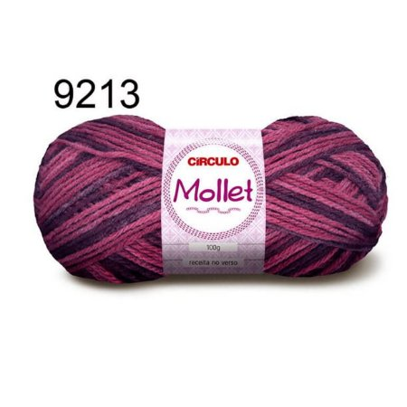 Lã Mollet 100gr 200m Cor 9213 Malbec - Círculo