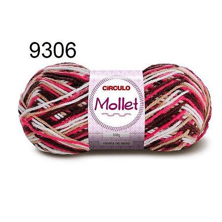 Lã Mollet 100gr 200m Cor 9306 Napolitano - Círculo