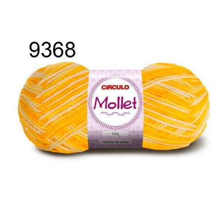 Lã Mollet 100gr 200m Cor 9368 Raio de Sol - Círculo