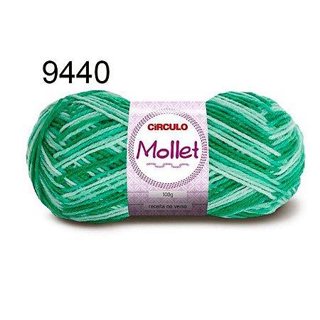 Lã Mollet 100gr 200m Cor 9440 Quartzo Verde - Círculo