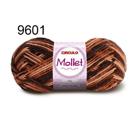 Lã Mollet 100gr 200m Cor 9601 Capuccino - Círculo
