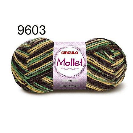 Lã Mollet 100gr 200m Cor 9603 Salgueiro - Círculo