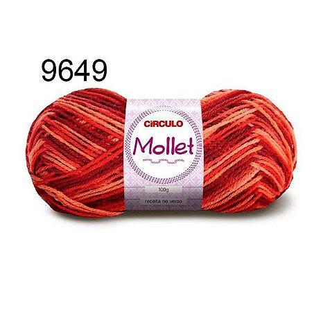 Lã Mollet 100gr 200m Cor 9649 Urucum - Círculo