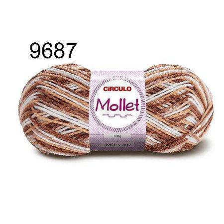 Lã Mollet 100gr 200m Cor 9687 Caravela - Círculo