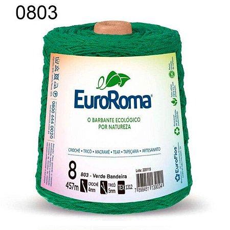 Barbante EuroRoma 8 fios Cor 803 Verde Bandeira 457 metros