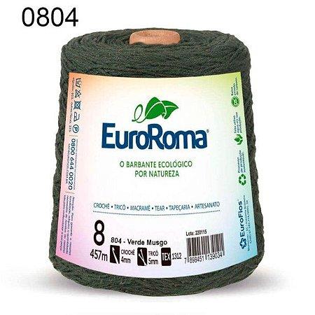 Barbante EuroRoma 8 fios Cor 804 Verde Musgo 457 metros