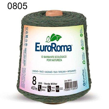 Barbante EuroRoma 8 fios Cor 805 Verde Militar 457 metros