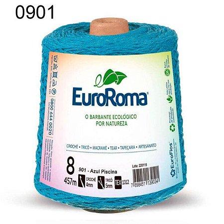 Barbante EuroRoma 8 fios Cor 901 Azul Piscina 457 metros
