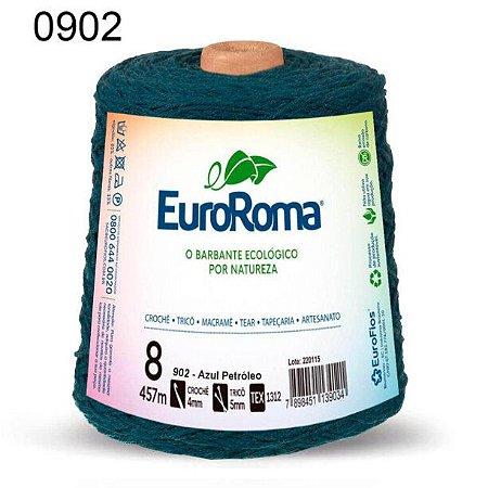 Barbante EuroRoma 8 fios Cor 902 Azul Petróleo 457 metros