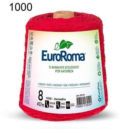 Barbante EuroRoma 8 fios Cor 1000 Vermelho 457 metros