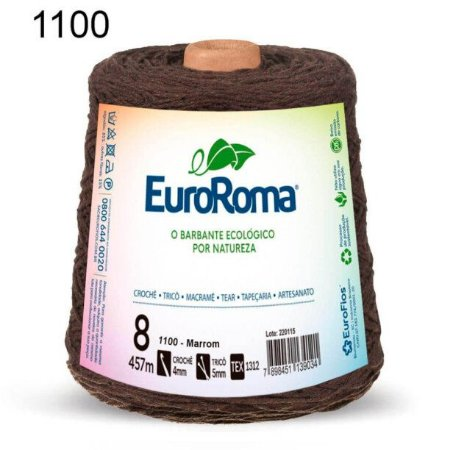 Barbante EuroRoma 8 fios Cor 1100 Marrom 457 metros
