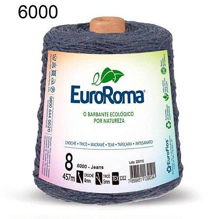 Barbante EuroRoma 8 fios Cor 6000 Jeans 457 metros